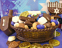 Edible Chocolate Basket for Hanukah