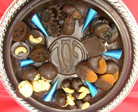 Edible Chocolate Seder Plate