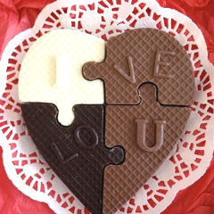 Chocolate Heart Puzzle for Valentines Day